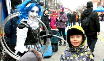 Animations hivernales pour fête de rue et festivals.