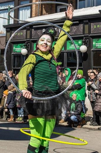Animation pour parade et défilé . Défilé de la St-Patrick (crédit photo: Emmanuel Burriel)