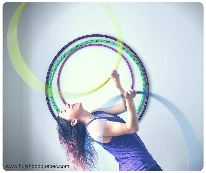le plaisir de faire du hula-hoop