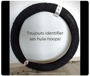 Voyager avec des hula-hoops